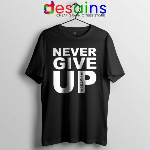 Tee Shirt Never Give Up Mohamed Salah Tshirt Liverpool FC