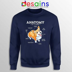 Anatomy of a Corgi Sweatshirt Pembroke Welsh Corgi Funny Sweater