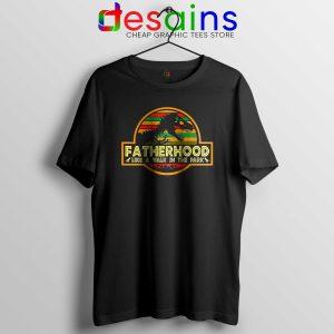 d47e62a8 ... Cheap Tshirt Black Fatherhood Like A Walk In The Park Retro Vintage T -Rex