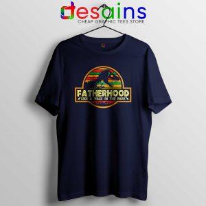 db1000a7b Cheap Tshirt Fatherhood Like A Walk In The Park Retro Vintage T-Rex ...