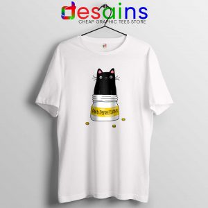 Fur Antidepressant Cat Tee Shirt Funny Cat Tshirt Size S-3XL