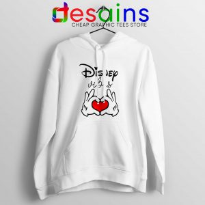 Hoodie Disney Vibes Mickey Mouse Love Hands Hoodies Adult Unisex