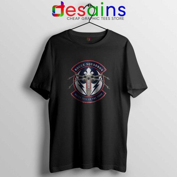 Rogue Squadron Black Tee Shirt Star Wars Tshirt Size S-3XL