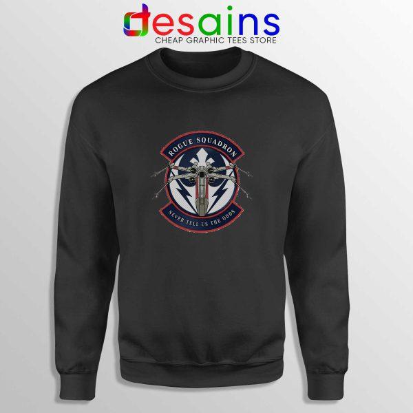 Rogue Squadron Patch Black Sweatshirt Star Wars Sweater