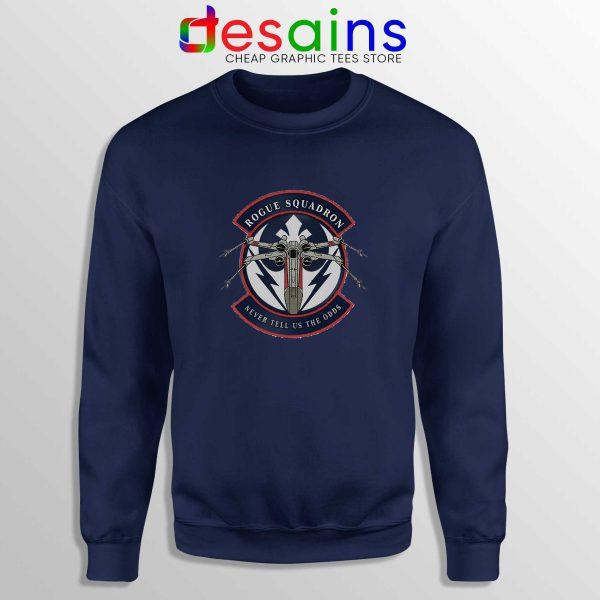 Rogue Squadron Patch Navy Blue Sweatshirt Star Wars Sweater