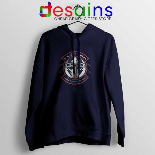 Rogue Squadron Patch Navy Hoodie Star Wars Hoodies Adult Unisex