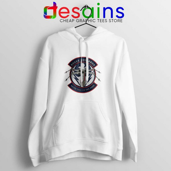 Rogue Squadron Patch White Hoodie Star Wars Hoodies Adult Unisex
