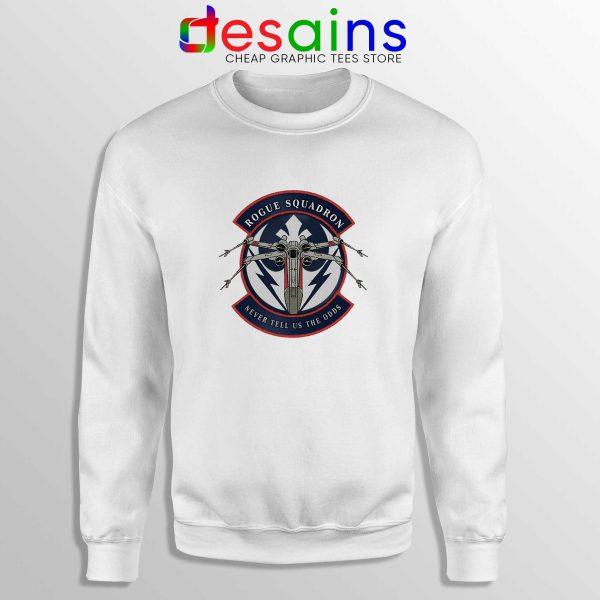 Rogue Squadron Patch White Sweatshirt Star Wars Sweater