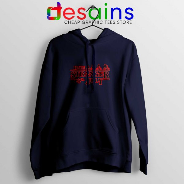 Stranger Things 4th July Navy Hoodie Stranger Things 3 Netflix Hoodies