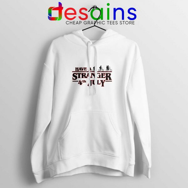 Stranger Things 4th July White Hoodie Stranger Things 3 Netflix Hoodies