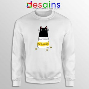 Sweatshirt Fur Antidepressant Cat Funny Cheap Graphic Sweater S-3XL