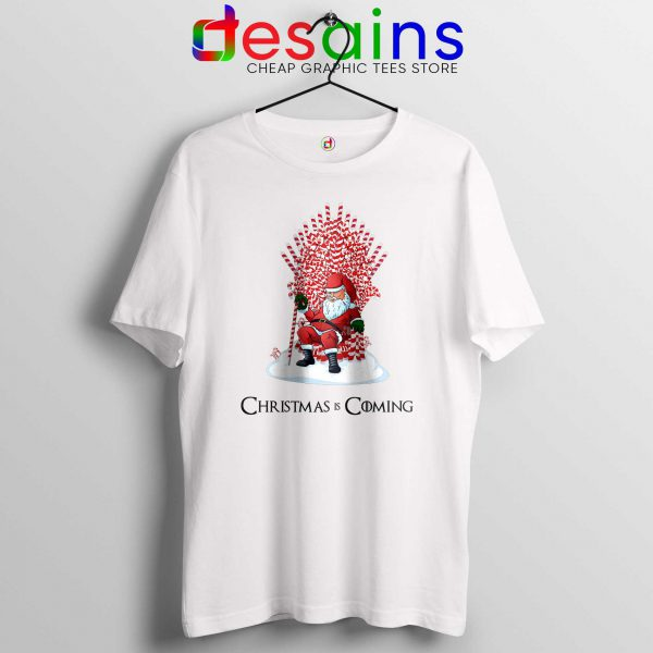 Tshirt White Christmas Is Coming Santa Tee Shirt Game of Thrones
