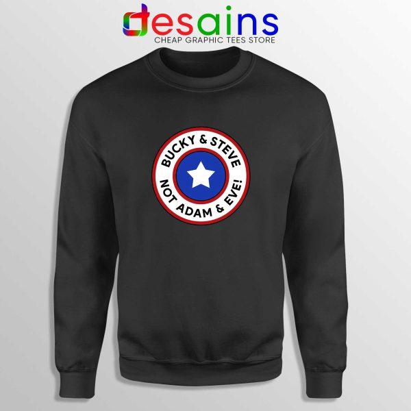 Cheap Sweatshirt Black Bucky and Steve Not Adam and Eve Captain America
