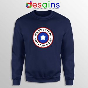 Cheap Sweatshirt Bucky and Steve Not Adam and Eve Captain America