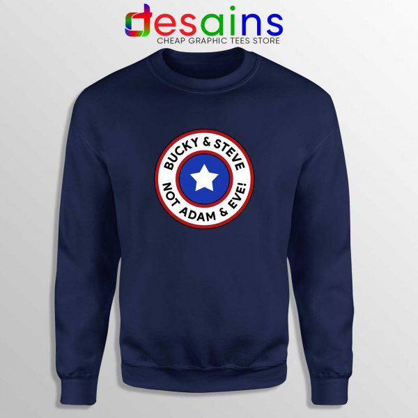 Cheap Sweatshirt Bucky and Steve Not Adam and Eve Captain America