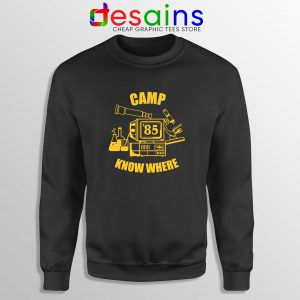 Cheap Sweatshirt Camp Know Where Stranger Things Crewneck Sweater