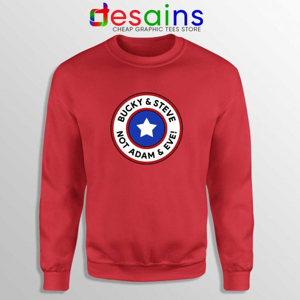 Cheap Sweatshirt Red Bucky and Steve Not Adam and Eve Captain America