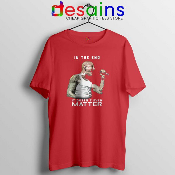 Chester Bennington In The End Red Tee Shirts Chester Linkin Park Tshirts