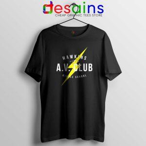 Hawkins AV Club Tshirt Cheap Tee Shirts Stranger Things Netflix