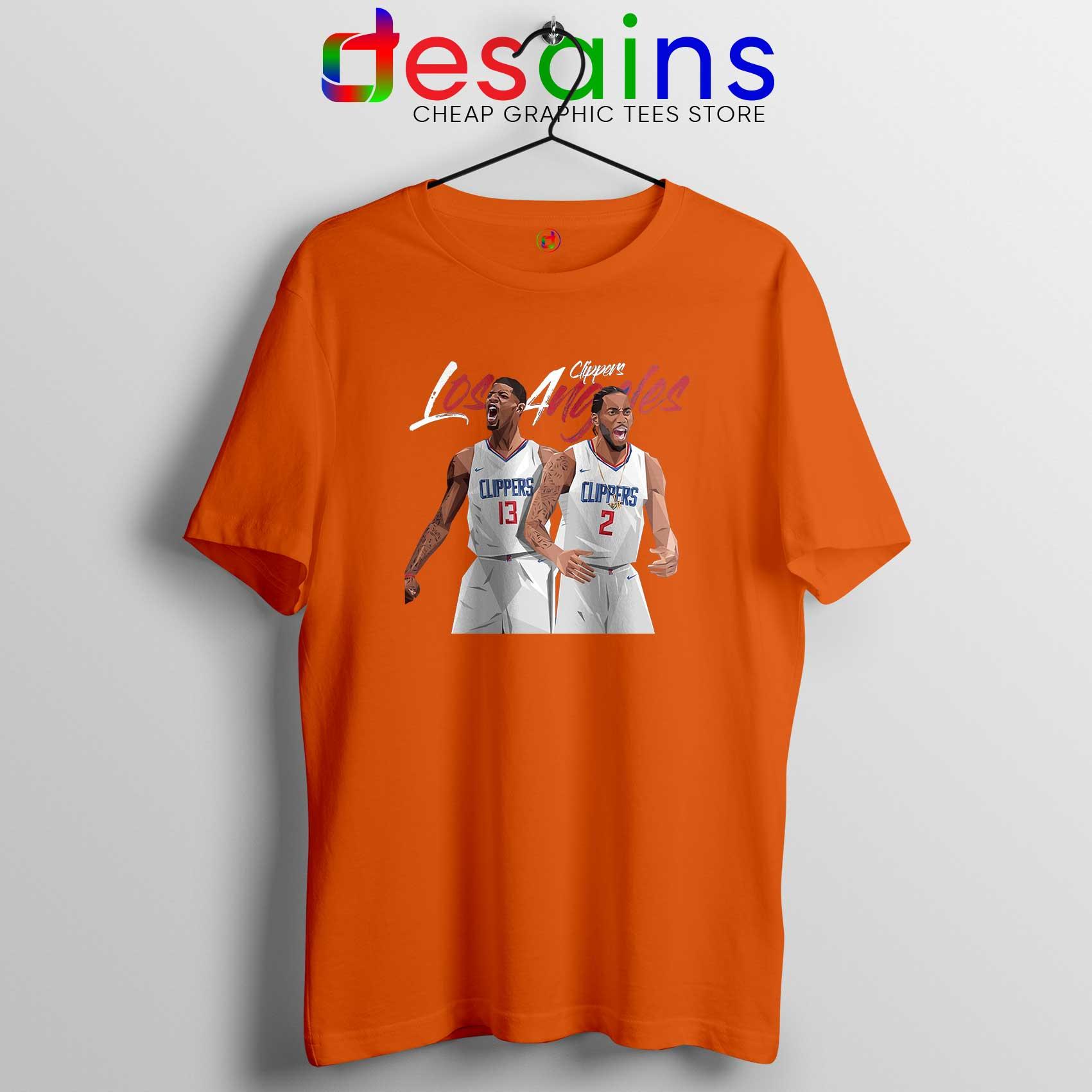 cheap for discount ca840 7963d Kawhi Leonard Paul George Tee Shirt LA Clippers Tshirt NBA