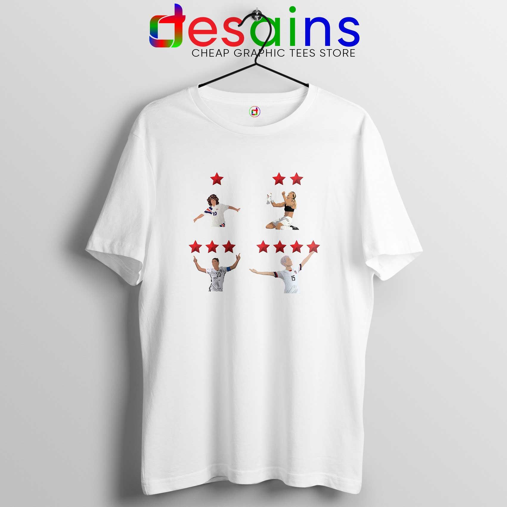 low priced 242f5 88c72 Megan Rapinoe and USWNT 4 Stars Tee Shirt USWNT Tshirt Size S-3XL