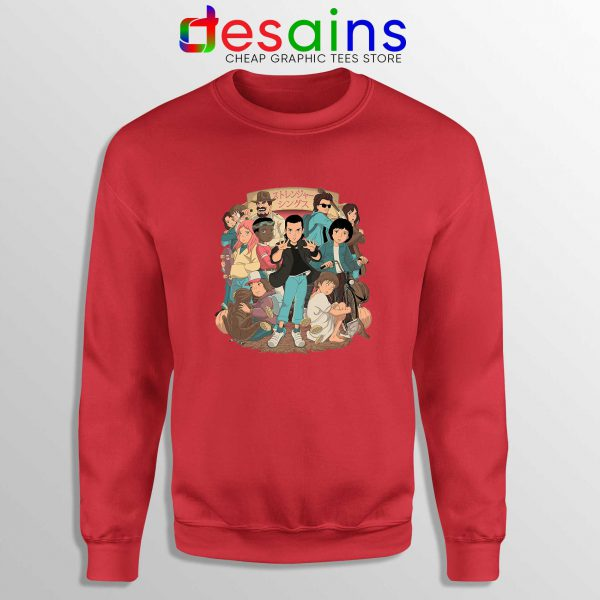 Stranger Things 3 Anime Poster Sweatshirt Netflix Merch Sweater