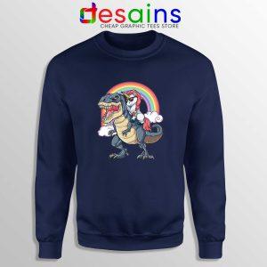 Unicorn Riding Dinosaur Rainbow Sweatshirt Buy Sweater Unicorns