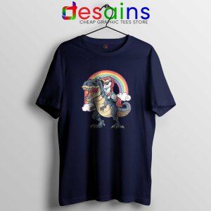 Unicorn Riding Dinosaur Rainbow Tshirt Cheap Tee Shirts Unicorns Funny