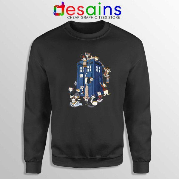 Doctor Who Cats Tardis Black Sweatshirt Doctor Mew Crewneck Sweater