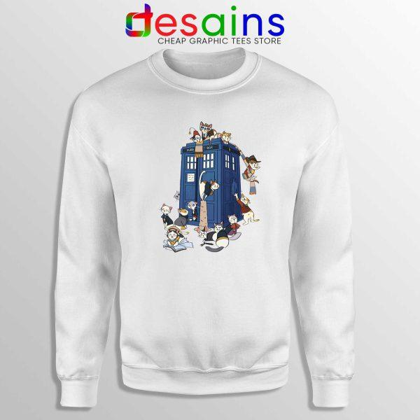 Doctor Who Cats Tardis Sweatshirt Doctor Mew Crewneck Sweater