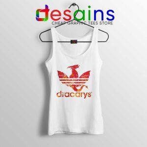 Dracarys GOT Adidas White Tank Top Cheap Game of Thrones Tank Tops
