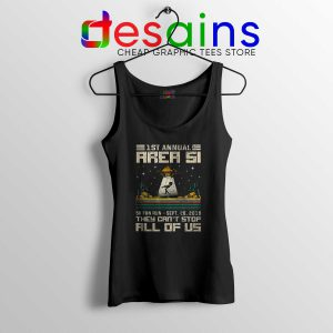 Fun 5K Run Area 51 Tank Top Aliens They Can't Stop All of Us Tank Tops