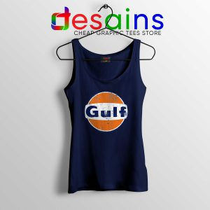 Gulf Racing Retro Tank Top Cheap Gulf Oil Cars Logo Tank Tops