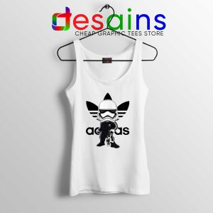 Stormtrooper Star Wars Adidas Tank Top Three Stripes Logo Tank Tops