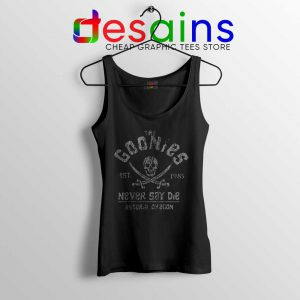 Goonies Never Say Die Tank Top Cheap Rock Band Merch Tank Tops