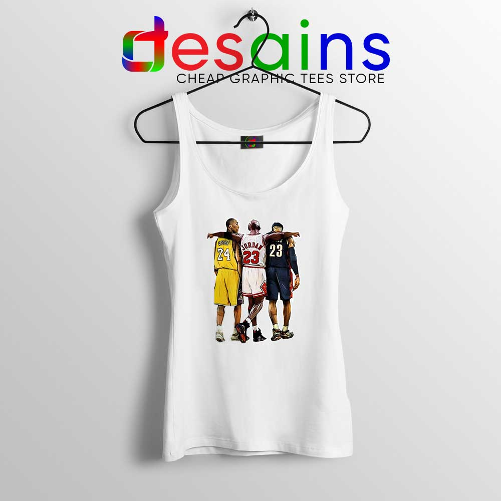 super popular 62046 d79c5 Kobe Bryant x Michael Jordan x Lebron James Tank Top NBA Shirt