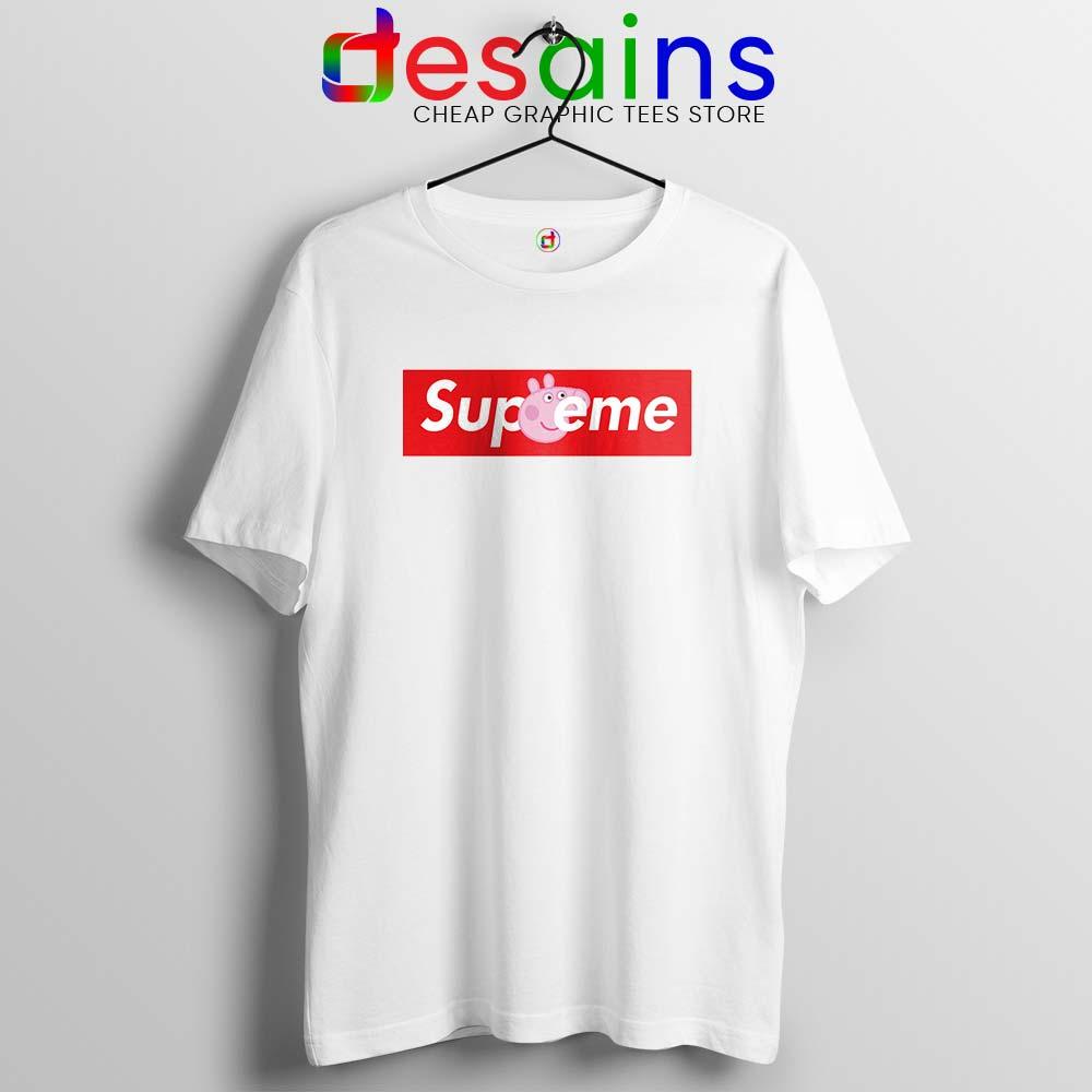 Peppa Pig Supreme Tshirt Funny Pig Supreme Tees Shirts Size S-3XL