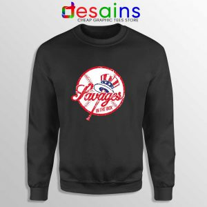 Savages in the Box Yankees Sweatshirt Buy Sweater Tighten it up BLUE