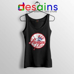 Savages in the Box Yankees Tank Top Tighten it up BLUE