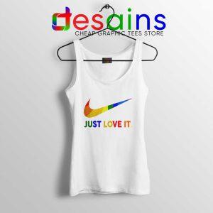 Just Love It LGBT Pride Tank Top Rainbow Lesbian Gay Tops S-3XL