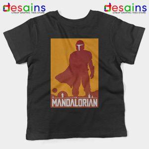 Mandalorian Disney Art Poster Kids Tshirt Disney Plus Tees Youth S-XL