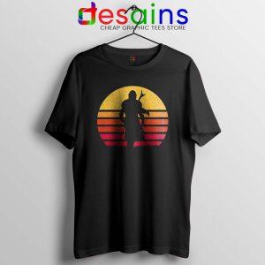 Mandalorian Retro Sun Rise Tshirt The Mandalorian Tee Shirts S-3XL