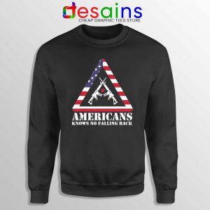 American Knows No Falling Back Sweatshirt Independence Day Sweaters