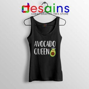 Avocado Queen Tank Top Girls Funny Avocado Tops S-3XL