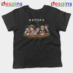 Best Anime Superheroes Friends Kids Tshirt Manga Youth Tees S-XL