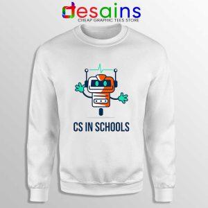 CS in Schools Robot Sweatshirt Computer Science Sweaters S-3XL