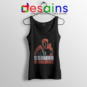 Deadpool No One Cares Tank Top Funny Deadpool Tops Size S-3XL