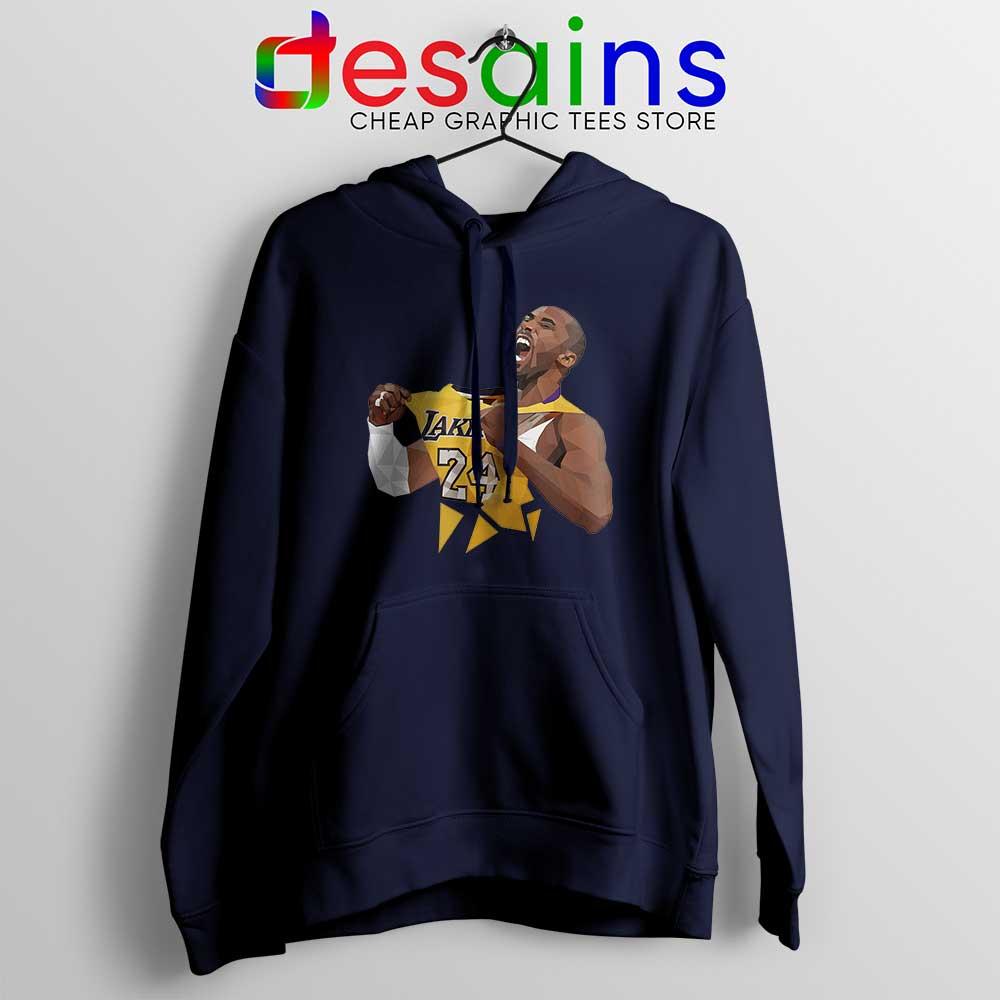 Kobe Bryant Lakers Jersey Art Hoodie Kobe Bryant RIP Hoodies S-3XL