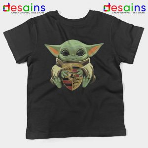 Baby Yoda Porsche Logo Kids Tshirt The Child Mandalorian Youth Tees