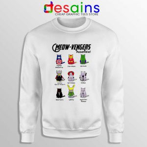 Cats Meow Avengers Assemble Sweatshirt The Avengers Sweaters S-3XL